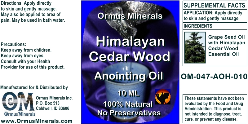 Ormus Minerals Himalayan Cedar Wood Anointing Oil 10Ml