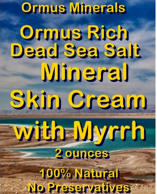 Ormus Minerals -Ormus Rich Dead Sea Salt Mineral Skin Cream with MYRRH
